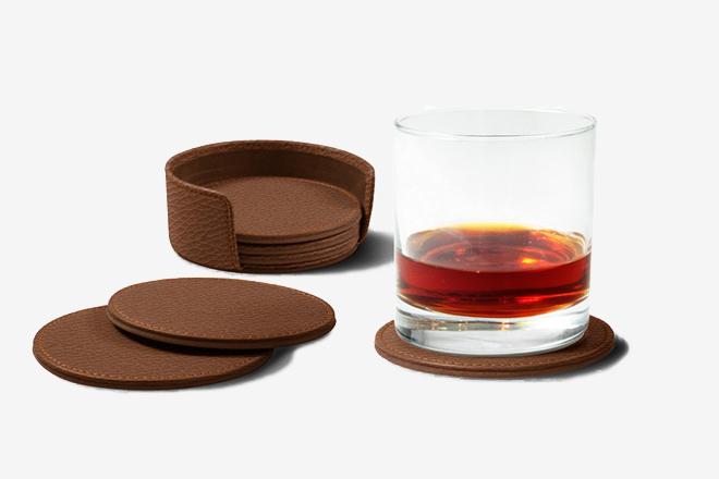 Guide Cadeaux Mixologiste - Dessous de verre en cuir