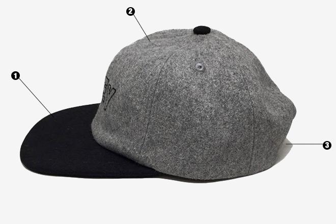 Modeles & formes de casquettes - Elements casquette