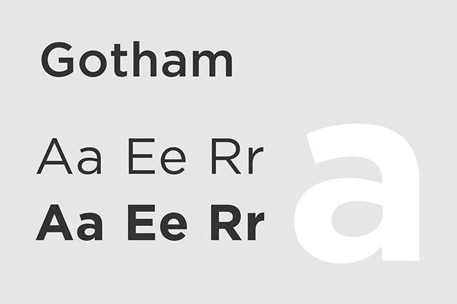 Polices d'écriture minimalistes - Gotham