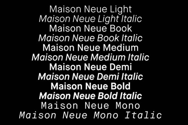 Polices d'écriture minimalistes - Maison Neue
