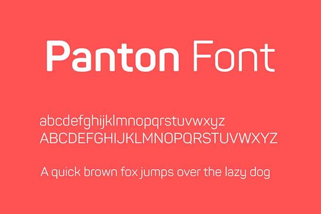 Polices d'écriture minimalistes - Panton