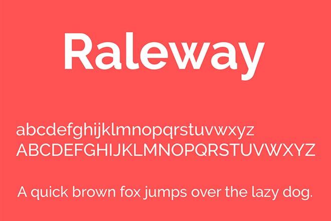 Polices d'écriture minimalistes - Raleway