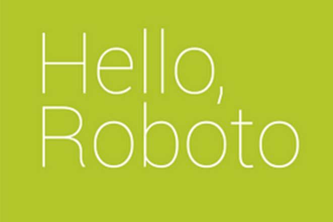 Polices d'écriture minimalistes - Roboto