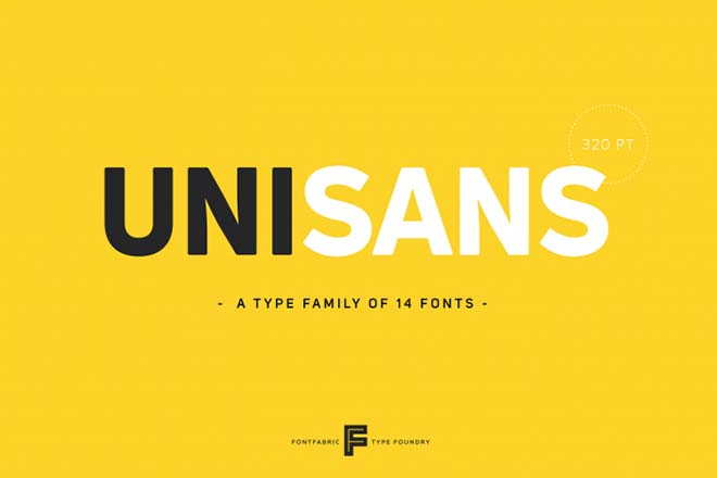 Polices d'écriture minimalistes - Uni Sans