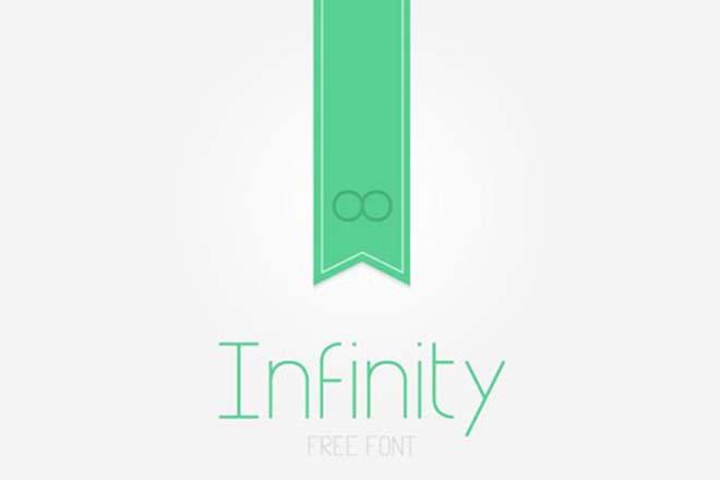 Polices d'écriture minimalistes - nfinity