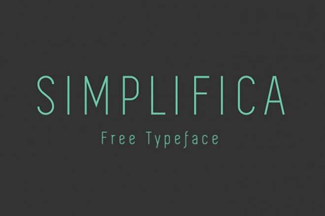 Polices d'écritures minimalistes - Simplifica